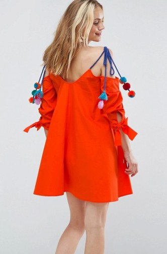Orange-Pom-Dress-Back