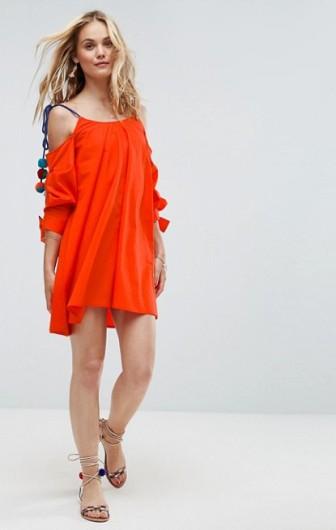 Orange-Pom-Dress